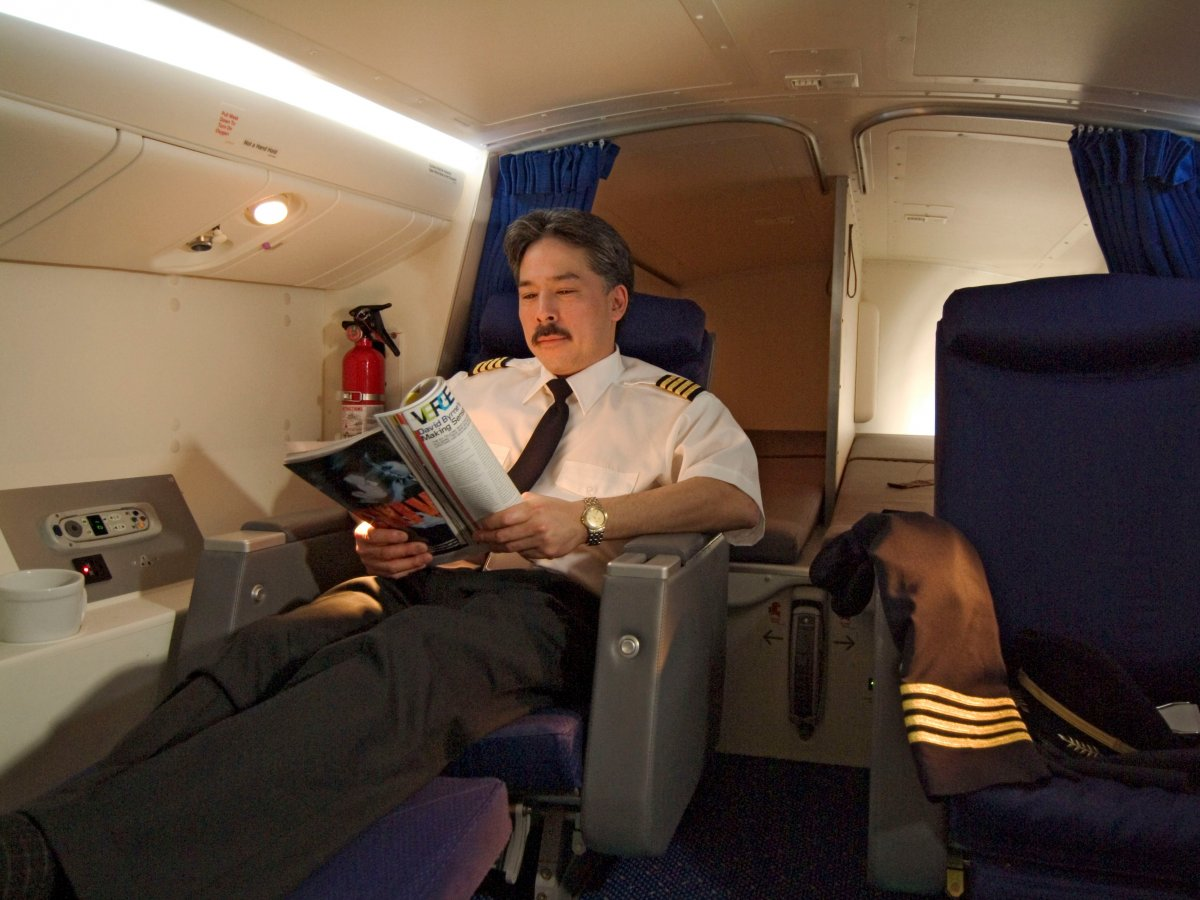 on-the-boeing-777-pilots-have-their-own-overhead-sleeping-compartments-which-feature-two-roomy-sleeping-berths-as-well-as-two-business-class-seats-and-enough-room-for-a-closet-sink-or-lavatory-depending-on-the-airline