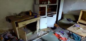 kuchyňa domu, v ktorom bola spáchaná brutálna vražda