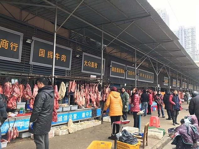 Zvierací trh v čínskom meste Wu-chan