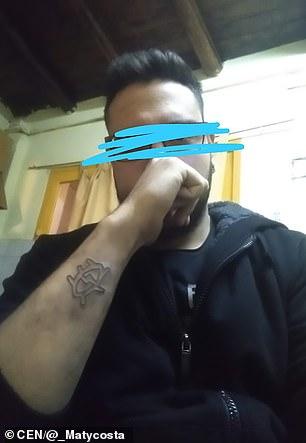 Fotografia Argentínčanovho tetovania