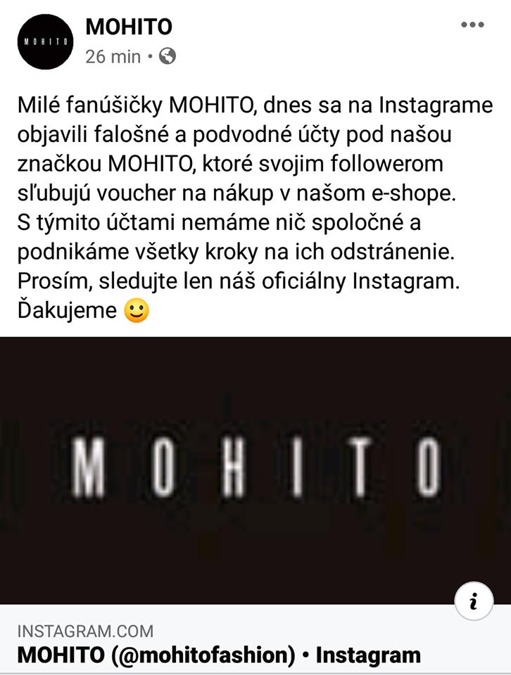 Oficiálne vyjadrenie značky Mohito