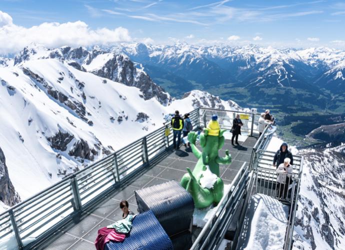 Adrenalínová vyhliadka Rakúsko - Dachstein