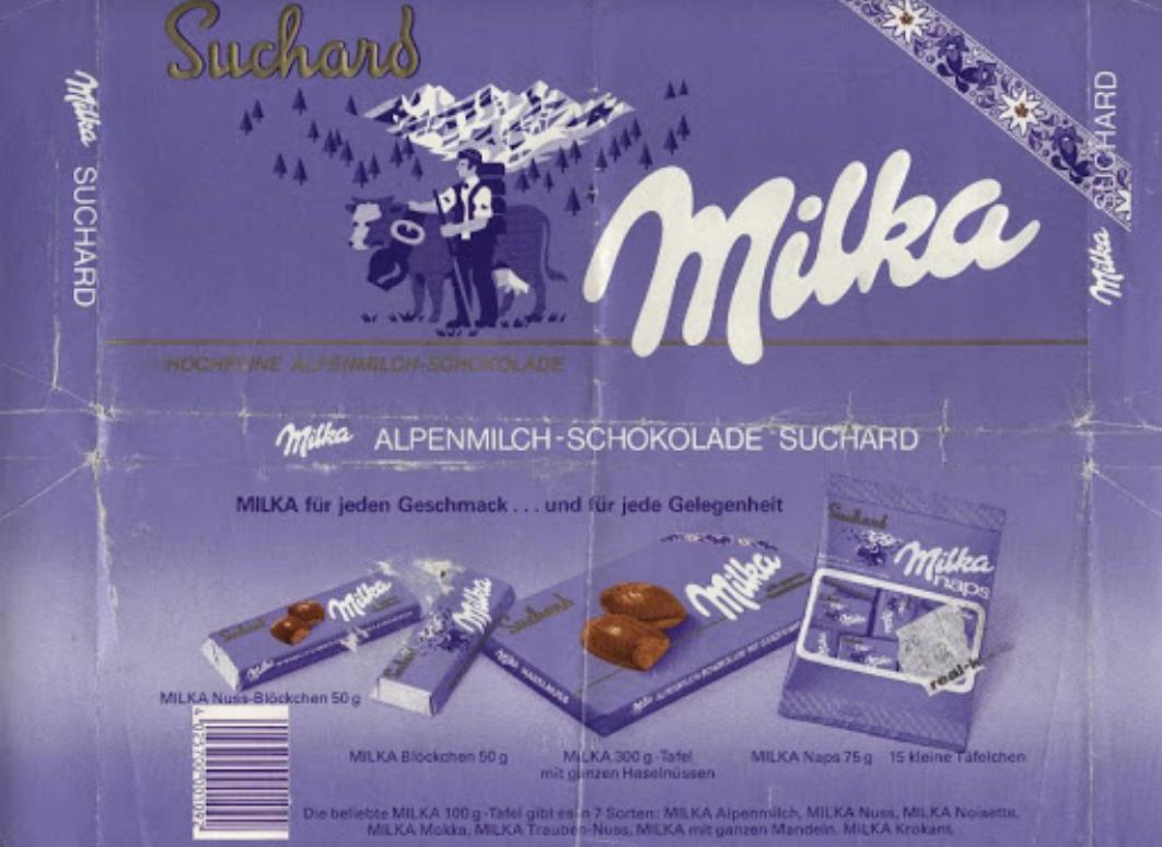 Pôvody obal čokolády Milka